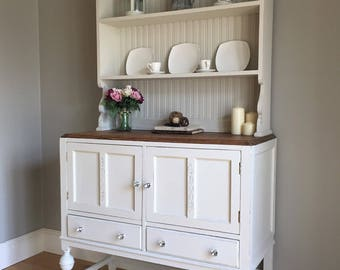 Vintage Solid Oak Painted Dresser (delivery quote available on request)