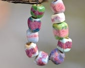 colorful beads boho beads ceramic components artisan elements jewelry handcrafted ceramic  zolanna clay beads hand formed beads component