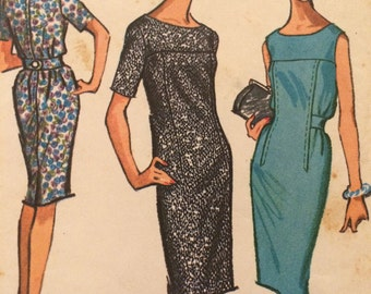 Chic Shift Dress Pattern With Cinched Waist---McCalls7110---Size 12 Bust 32