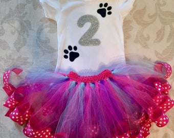 Birthday Girl Outfit / Baby Toddler Tutu / Custom Order Birthday Party Dress / Themed Baby Girl Outfit Dress Tutu