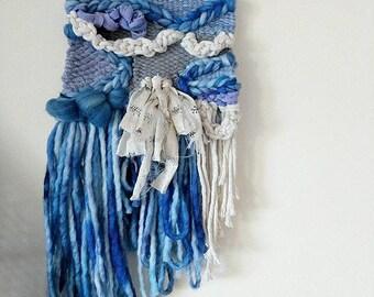 shibori & silk wall weaving