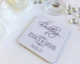 Personalised Wedding Favours/Coasters