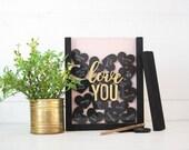 Love You Hearts | DIY Pocket Frame Insert Kit | Frame Not Included