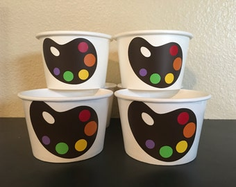 Painting Party Snack Cups