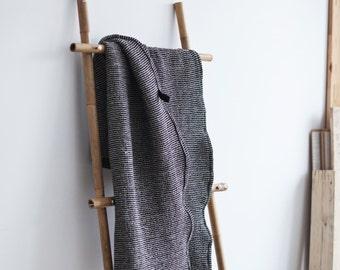 Melange Black Natural Towel /Large Bath Towel /  Waffle Towel / Large