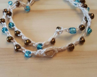 Crochet, Beaded, Wrap, Bracelet