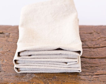 Cobblestone Table Napkin – Hemp / Organic Cotton - Beige Linen