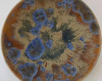 "8"" crystalline glazed shallow bowl"