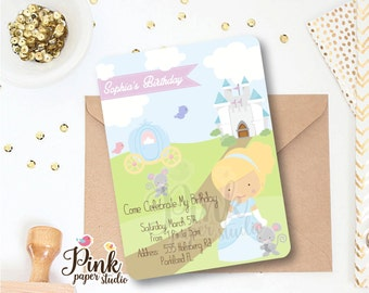 Cinderella Invitation  •  Princess Invitation