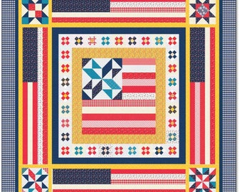 "Land That I Love Quilt Kit by Amy Smart of Diary of a Quilter for Riley Blake Designs -Finished Quilt Size 70"" x 70""-Free Shipping"