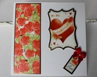 Valentine's Day card. Be my Valentine.