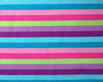 Knit Spring Stripes Fabric 1 yard