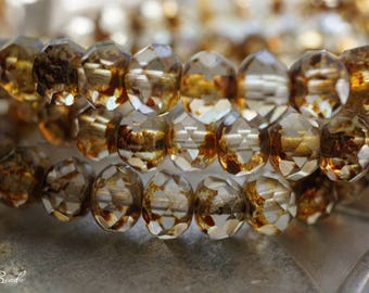 Picasso's Crystal, Rondelle Beads, Czech Beads, Beads, N2317
