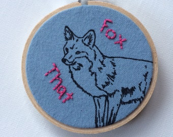 Fox That Desk Flair 3 inch Hoop