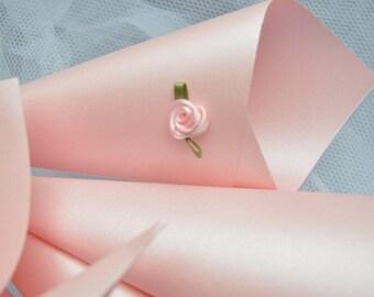 50 luxury Confetti Cones,  Wedding petals, Confetti, Petal holders, Pink Confetti Cones