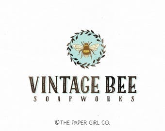 bee logo soap logo soap making logo premade logo photography logo craft shop logo planner shop logo sewing logo fabric shop logo watermark