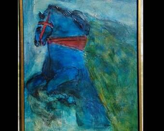 LARGE Encaustic Mid Century Modern Modernist Painting! Mid Century Modern Art, Mid Century Art, Mid Century Painting