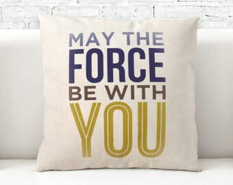 Pillow Cover,  Pillow cases, 100% cotton fabric, Decorative Cushion, Throw Pillow, graphic pattern, star wars, 040