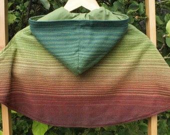 Handwoven Hooded Child's Cape size 5