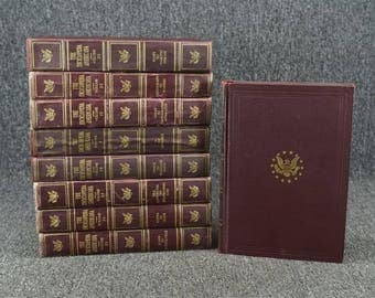 Set of 9 Volumes From Encyclopedia Americana 30-Volume Set C. 1947