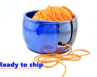 Two tone ceramic knitting bowl - Mother's day gift idea