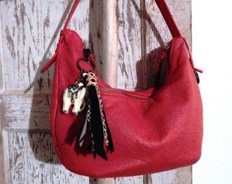 Gently used Red leather The Sak hobo bag, boho, bohemian, gypsy, hippy