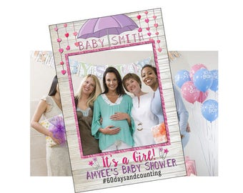 Perfect Baby Shower Photo Booth Frame, Baby Shower Photo Booth Props, Baby Shower  Photo Props