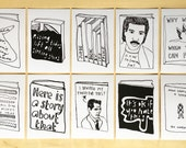 Book Covers Postcard Set of 10