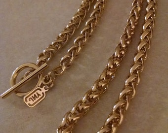 JNY Gold Chain Necklace,Sale, Signed, Under 25.00,Gifts for Her,JNY Chain Necklace, Accessories,Heavier Chain Necklaces,Signed JNY, Pretty