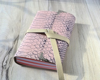 Leather notebook Gift for girl Blank notebook Writing journal Leather journal Handmade diary Travelers notebook Handbound journal Stationery