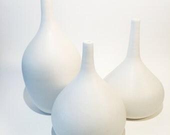 White Porcelain Bottle Vase
