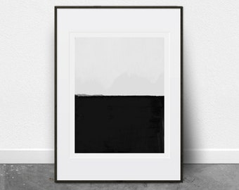 Scandinavian Modern, Minimalist Art, Abstract Painting, Digital Download, Fine Art Print, Black and White Print, Printable Wall Art, Chic