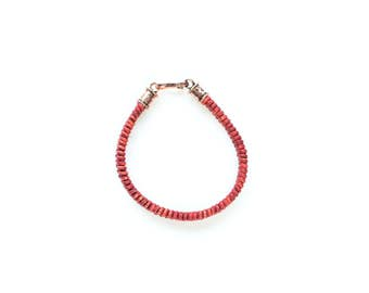 Fire Red Braid Bracelet
