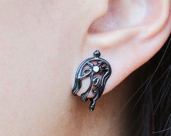 Salvador Dali Melting Clock Diamond Earrings, Soft Clock earrings, melting watches, Dali jewelry, Persistence of Memory, fashion jewelry