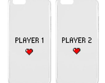 Couple phone case - Couple iPhone case - iPhone case - Player 1 - Player 2 - Cute - Teen gift | SNT-005-SLIM-PERFCASE