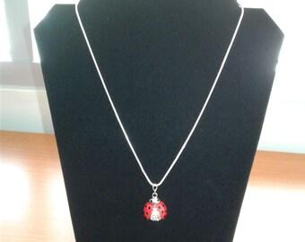 Necklace w/ Ladybug Pendant