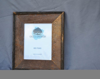 Reclaimed Barnboard Frame with Border - 5x7 and 8x10 available