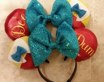 Tweedle Set  Inspired Mickey Ears