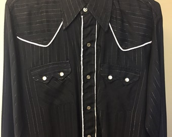 SALE!  DC Brand BLACK square dance shirt