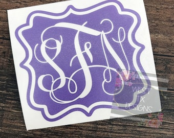 Monogrammed Decal | Yeti Decal | Yeti Tumbler Decal | Custom Sticker | Yeti Cup Decal | Macbook Decal | RTIC decal | Personalized Decal