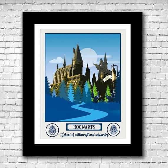 Hogwarts School Harry Potter Minimalist Poster Buy 2 Get 1
