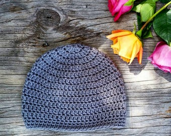 Basic Beanie, Crocheted Beanie, Crocheted Hat, Baby Hat, Kid's Hat, Lightweight Beanie, Lightweight Hat, Spring Hat, Winter Hat
