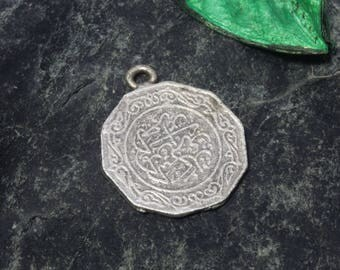 Antique Style Ottoman Coin Pendant With Sultan Sign. Ottoman Sign Metal Jewelry. Coin Pendant. Ottoman Jewelry Charm. Orientalist jewellery