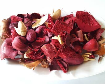 Large 10 oz Potpourri, Decorative Potpourri, Red Potpourri, Scented Potpourri,