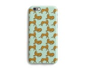 Panther Phone Case iPhone 7 6 6s Plus SE 5s 5c unique wild animal design phone case Samsung S8 S8 Plus Google Pixel Mint Green