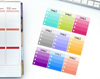 Goals Full Box Planner Stickers! Perfect for your Erin Condren Life Planner, calendar, Paper Plum, Filofax!