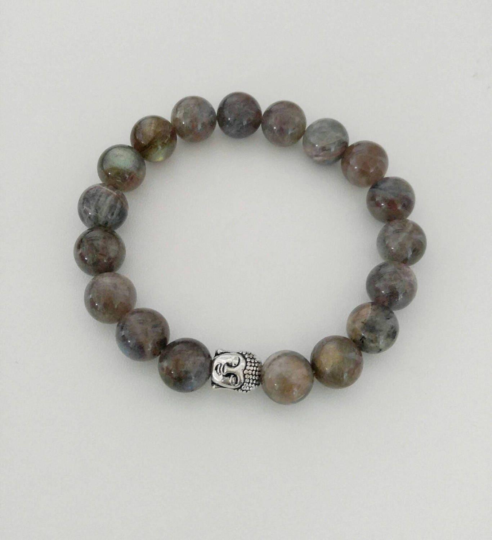Labradorite Unisex Handmade Gemstone Bracelet, Natural Premium Beads,yoga  Bracelets,chakra Bracelet