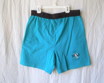 90s Mickey Mouse Baseball Turquoise Tie Shorts