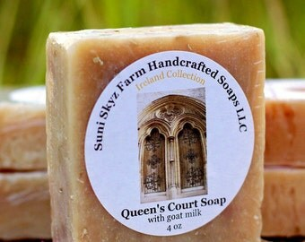 Irish Soap - Queen's Court Soap - Lemongrass Soap - Spa Soap - Goat Milk Soap - Natural Soap - Handmade Soap - Suni Skyz Farm Soap