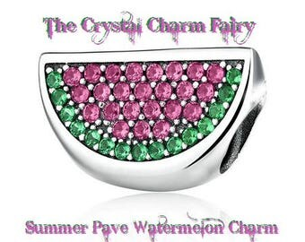 European Summer WATERMELON Charm Bead Beautiful Charm  Large Hole / Pandora / European / Bracelet